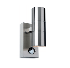 Redbridge Stainless Steel Double Outdoor Wall Light with PIR - ID 8338