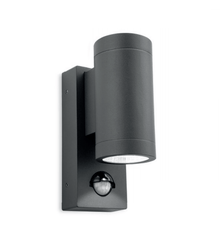 Harefield Graphite Double Outdoor Wall Light with PIR - ID 8339