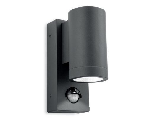 Harefield Graphite Single Outdoor Wall Light with PIR - ID 8340