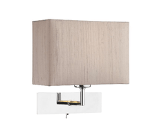 Polished Chrome Switched Bedside Wall Light (Shade Sold Separately) - ID 8373