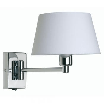 Hilton Single Swing Arm Wall Light Finished In Chrome - ID 8376
