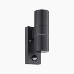 Exterior Anthracite Up/Down PIR Wall Light - ID 7579