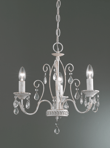 Coulsdon 3 Arm Iron Ceiling Light In white With Gold Highlights - ID 6505