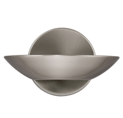 A Small Wall-Mounted Uplighter Finished in Satin Silver - ID 1998
