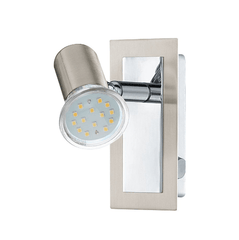 A Single Spotlight with Polished and Brushed Chrome Backplate - ID 2181