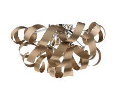 Becontree Brushed Copper Large Flush Ceiling Light - ID 5622