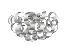 Becontree Brushed Aluminium Large Flush Ceiling Light - ID 5782
