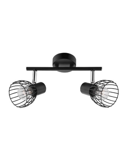 Hanford Black Wire Frame Indoor Twin Spot Light - ID 9404