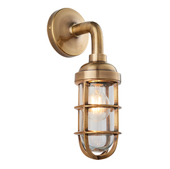 Shandwick Burnished Brass Industrial Style Wall Light - ID 9651