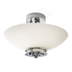 Polished Chrome Semi Flush Bathroom Light ID 10281
