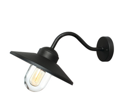 Black Goose Neck Exterior wall Light - ID 10336