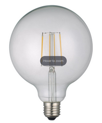 Large Clear Globe Lamp Warm White 6W LED E27 - ID 9865