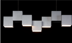 Grossmann Rocks Five Lamp Pendant Ceiling Light - Colour Options