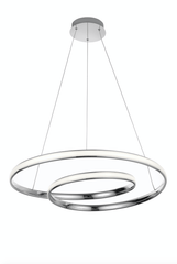 Crossness Chrome Aluminium LED Pendant - ID 8603
