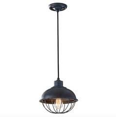 Industrial Style Domed Cage Pendant - ID 9238