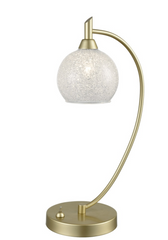 Table light In Chrome With Crystallised Glass Globe Shade - ID 9242