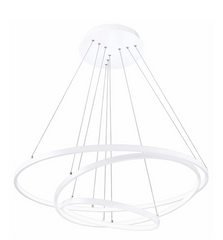 Matt White Aluminium & Acrylic Adjustable Dimmable - ID 9334