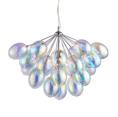Handa 6 Lamp Iridescent Bubble Pendant - ID 8935