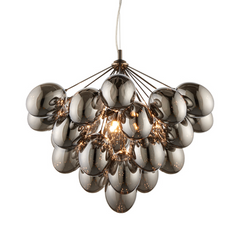 Black Egg 6 Arm Chandelier - ID 9634