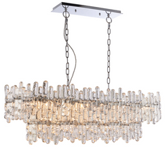 Linear Ice 12 Arm Chandelier - ID 9638
