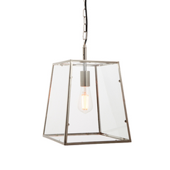 Polished Chrome Tapered Box Lantern - ID 9643