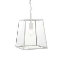 White Tapered Box Lantern - ID 9644