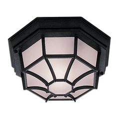 Hexagonal Flush Outdoor Ceiling Light - ID 592