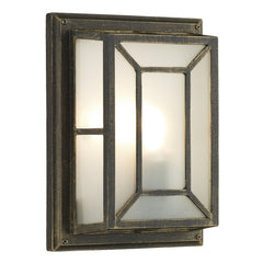 Trent Black Gold Wall Bracket - London Lighting - 1
