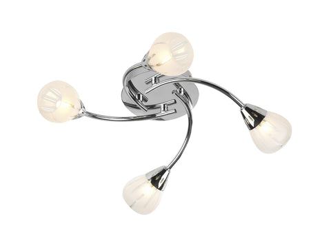 Villa Chrome 4 Lamp Ceiling Light - London Lighting - 1
