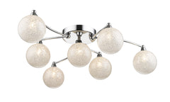 WIM Seven Lamp Crystal In Glass Globes Ceiling Light - ID 10508