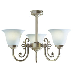 Woodstock Antique Brass 3 Lights Semi-Flush - London Lighting - 1