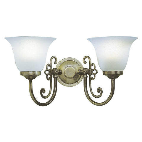 Woodstock Antique Brass 2 Lights Wall Bracket - London Lighting - 1