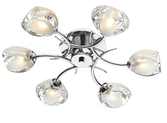 Zagreb Chrome 6 Lamp Ceiling Light - London Lighting - 1
