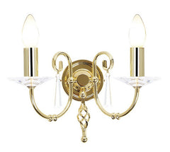 Aegean 2Lt Wall Light Polished Brass - London Lighting - 1