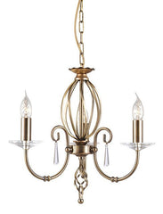 Aegean 3Lt Chandelier Aged Brass - London Lighting - 1