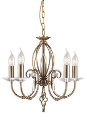 Aegean 5Lt Chandelier Aged Brass - London Lighting - 1