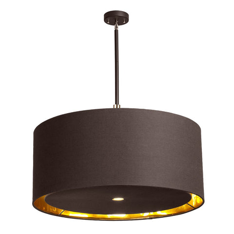 Balance Extra Large Pendant Light Brown and Polished Brass