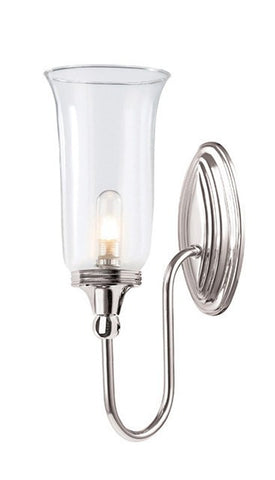 Blake2 Bathroom Wall Light in Polished Nickel - London Lighting - 1