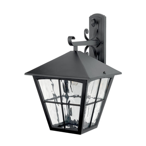 Edinburgh Wall Down Lantern Black - London Lighting - 1