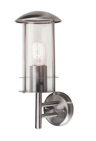 Bruges Stainless Steel Wall Lantern - London Lighting - 1