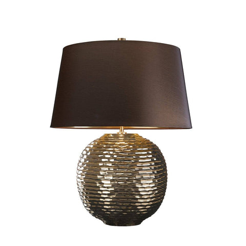 Chinbrook Gold Coloured Table Lamp c/w shade - ID 8324