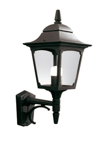 Chapel Up Wall Lantern Black - London Lighting - 1
