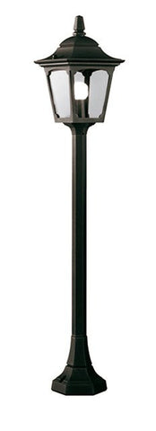 Chapel Mini Pillar Lantern Black - London Lighting - 1