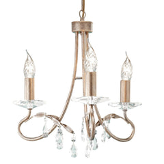 Christina 3 Arm Chandelier Silver/Gold - London Lighting - 1