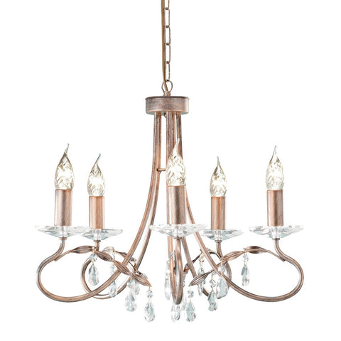 Christina 8 Arm Chandelier Silver/Gold - London Lighting - 1