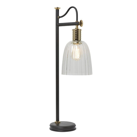 Black/Polished Brass Table Lamp