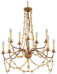 Mosaic 10 Lamp Chandelier - London Lighting - 1
