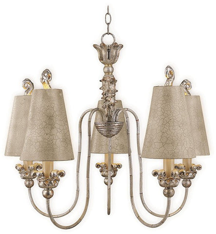 Remi 5 Lamp Chandelier - London Lighting - 1