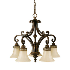 Feiss Drawing Room Down 5 Light Chandelier - London Lighting - 1