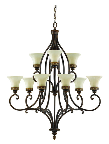 Feiss Drawing Room 9 Light Chandelier - London Lighting - 1